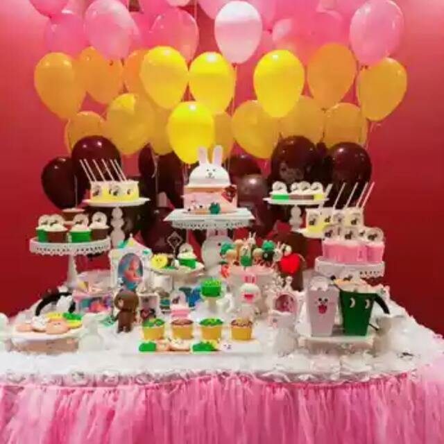 Line Friends Theme Birthday Party Babies Kids