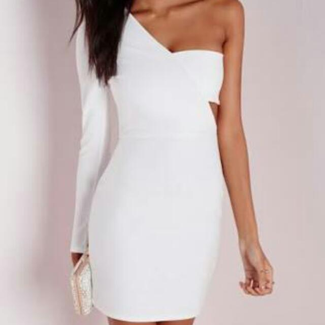 Looking For: Missguided One Shoulder Dress (Size 6/8)