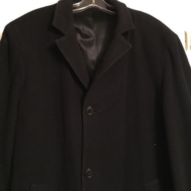 Men's Luxurious Wool Blend Over coat