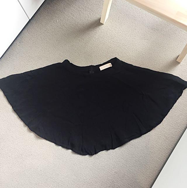 Mini Black Swing Skirt