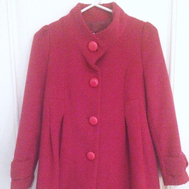 MISSION Hot Pink Knit Coat