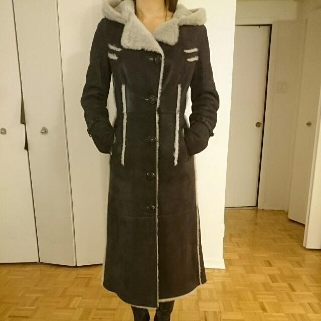 New Genuine Sheepskin Coat Sz S (4)