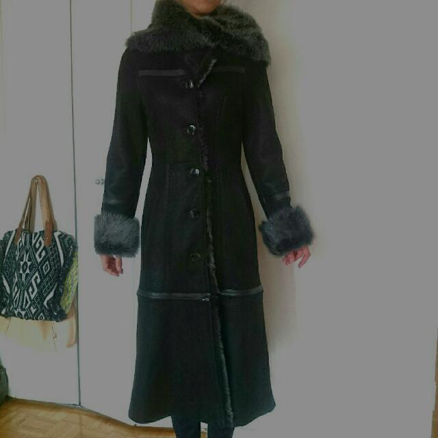 New Sheepskin Coat Sz S (4-6)