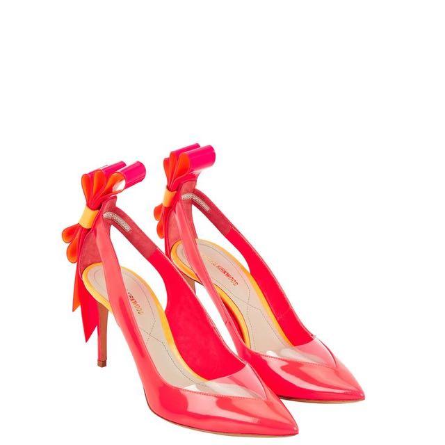 Nicholas Kirkwood Origami Bow Pump In Fluro Pink