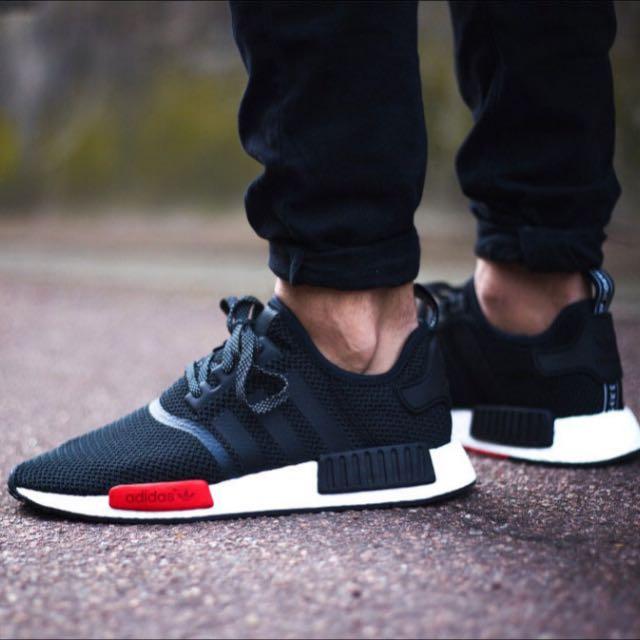 NMD R1 Black/Red (Footlocker Exclusive