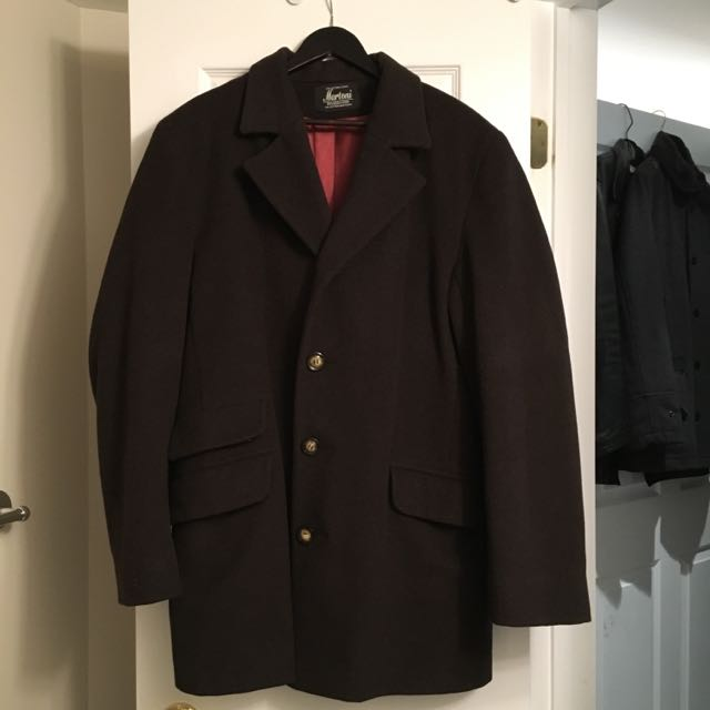 Men's Over coat In A Luxurious Wool Cashmere Blend