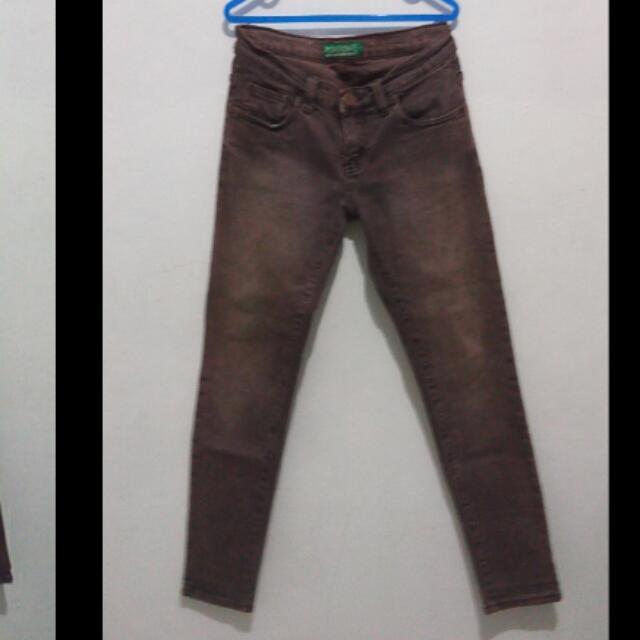 #harga suka2.Point One Jeans Coklat