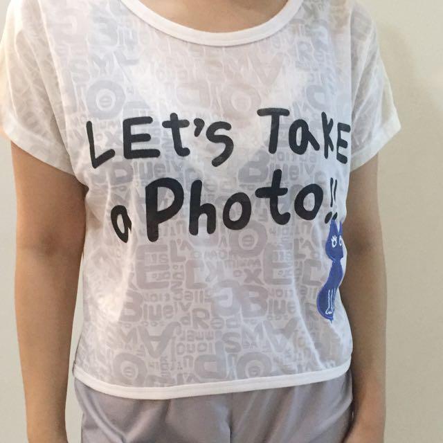 Ribbon Blue Shirt