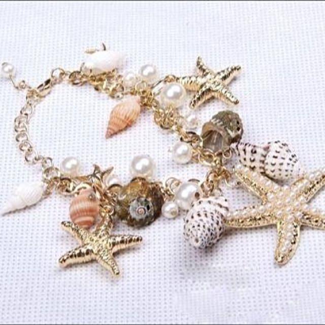 Seashell Charm Bracelet