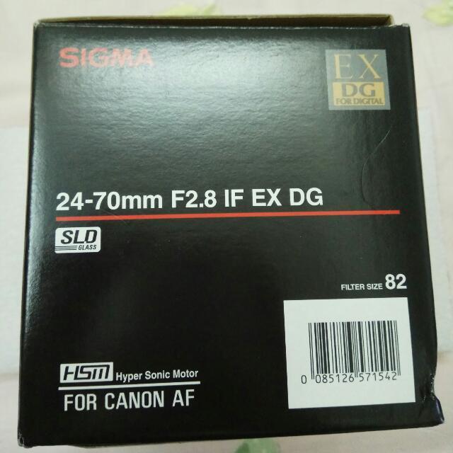 sigma 24-70 F2.8 平行輸入