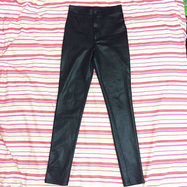 Size 6 Matte Black High Waisted Pants