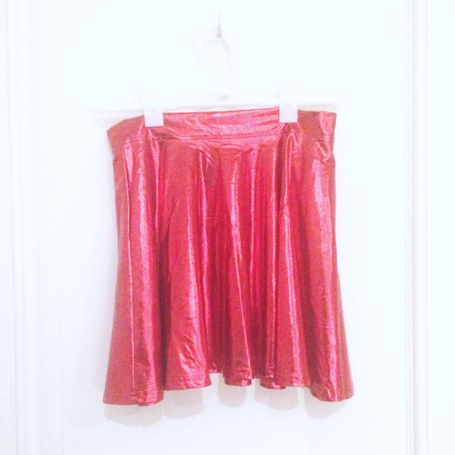 Sparkly Red Skirt