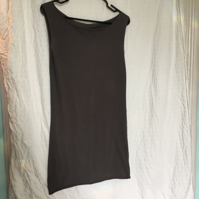 Sz Sm American Apparel Dark Grey Dress