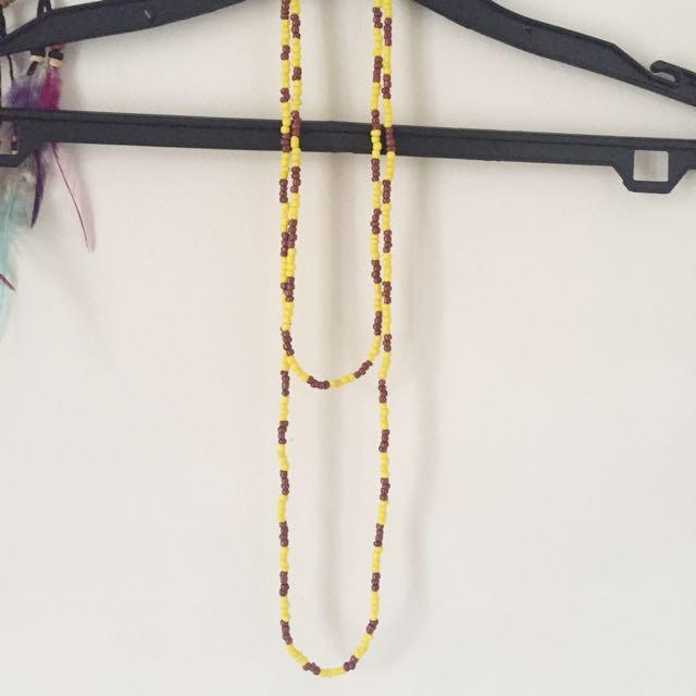 Tan Necklace ( Kalung Kuning Coklat Khaki )
