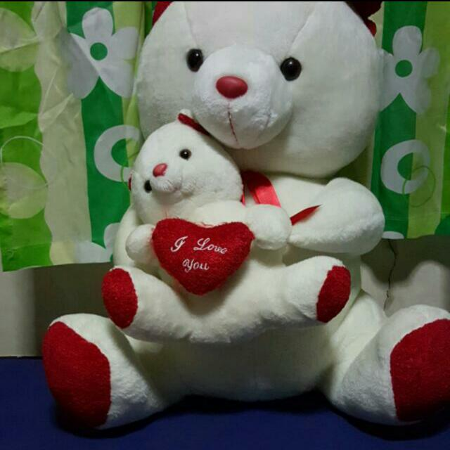 Teddy Bear With Doll Shoes And Slippers