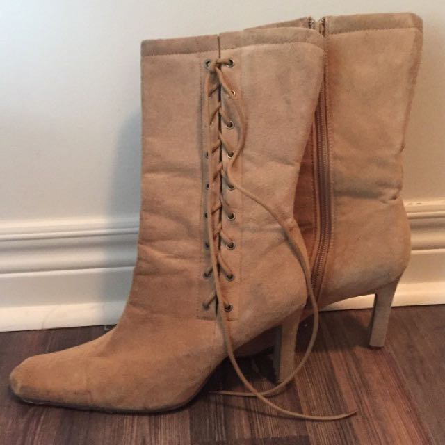 Women's Brown Heel Boots