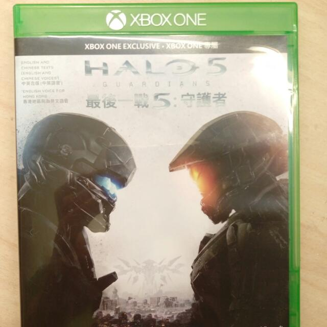 Xbox One Halo最後一戰5 &戰地風雲 Battle Field 4 九成新