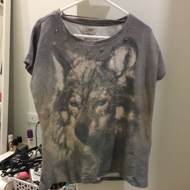 Zara Top Wolf Shirt