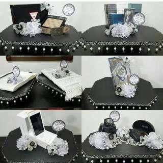 Dulang Hantaran Wedding Trays Black Arcylic Carbon Fibre Sticker For Rent