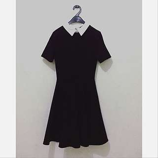 Little Black Dress With Colar
