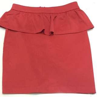 Pull and bear peplum skirt