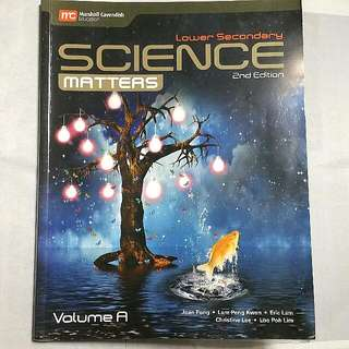 Lower Sec | SCIENCE MATTERS | 2nd Edition | Vol A/B
