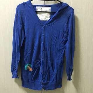 💖young寶藍針織薄外套