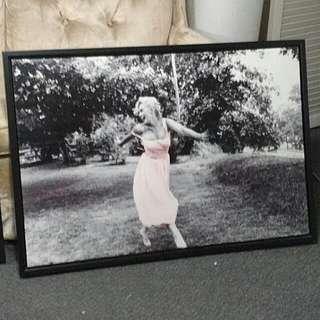 Marilyn Monroe Framed Canvas And Photo