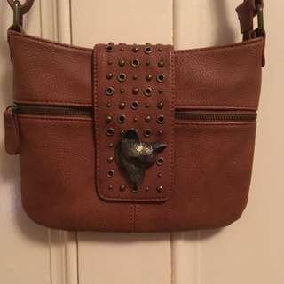 Leather Hibou Purse