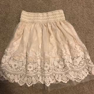 White Laces Skirt