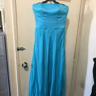 Bridesmaid Long Gown With built-in Corset And Lining