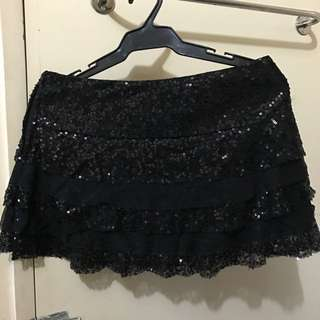 Sequined Black Skirt Never Used W/o Tag