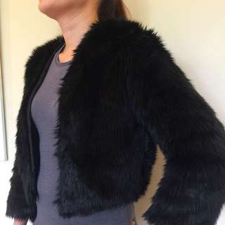 Kookai Faux Fur Jacket