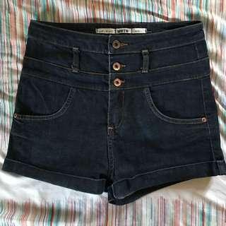 Topshop Denim High-waisted Shorts
