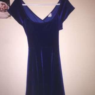 Small Blue Velvet Garage Dress