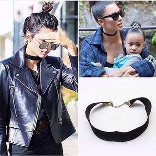 Adjustable Black Choker Necklace