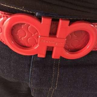 Ferragamo Belt All Red