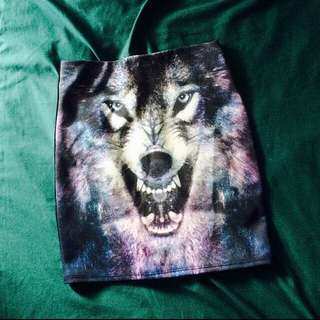 WOLF Galaxy printed Skirt