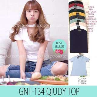 Tshirt With Chocker (Grey&white)