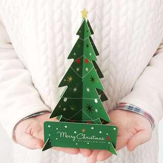 韓國3D 聖誕樹卡 Christmas Card
