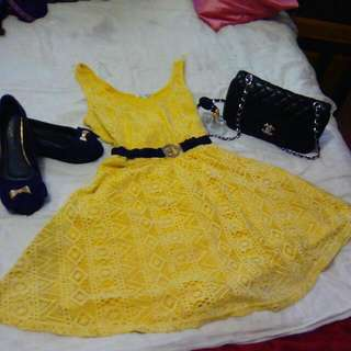 Yellow Cotton On Dress