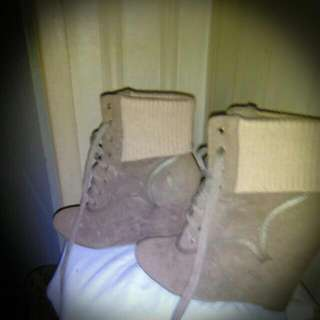 Ankel Boot Wedges