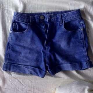 temt blue hws denim shorts