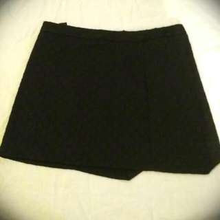 Factorie Black Fold-Over Skirt