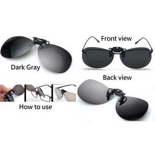 深灰色 - 全新真正UV400防紫外線 上揭式太陽鏡 踏單車 電單車 戶外活動 送盒