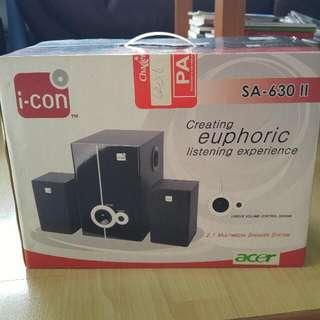 I-con 2.1 Multimedia Speaker System SA-630ll