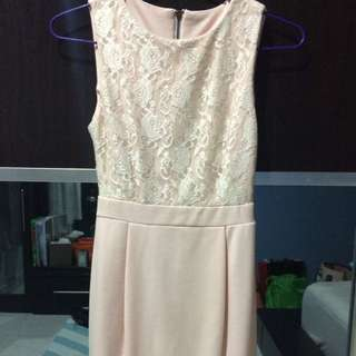 Soft Peach Laced Dress