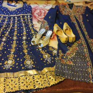Brand New Sharwani Suit And Dress With Shoes And Pants,dress Is Size 48 And Suit Is Size 52