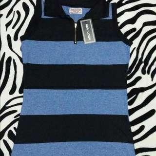 new look stripe long blouse