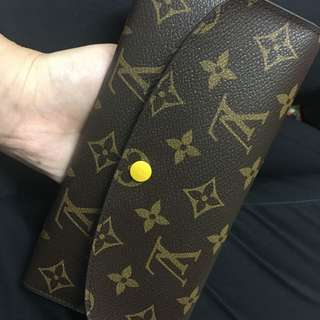 LV Emilie Louis Vuitton 長夾 鵝黃色